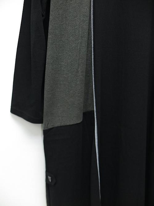 Ground Y・グラウンドワイ/#004 Color Combination Patchwork T long sleeve/WHITEBLACK.