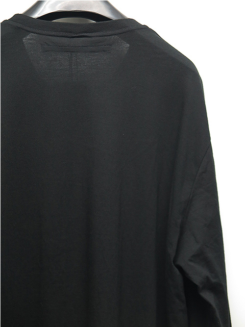 JULIUS・ユリウス/CO/RY JERSEY EMBROIDERED LS T-SHIRT/BLACK