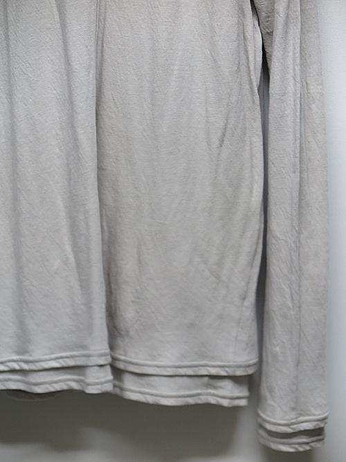 nude:masahiko maruyama ・ヌード:マサヒコマルヤマ/Bottle Neck Layered T shirt/Grey