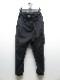 RIPVANWINKLE・リップヴァンウィンクル/タイプライターピマストレッチ CROPPED BUSH PANTS/MATT BLACK