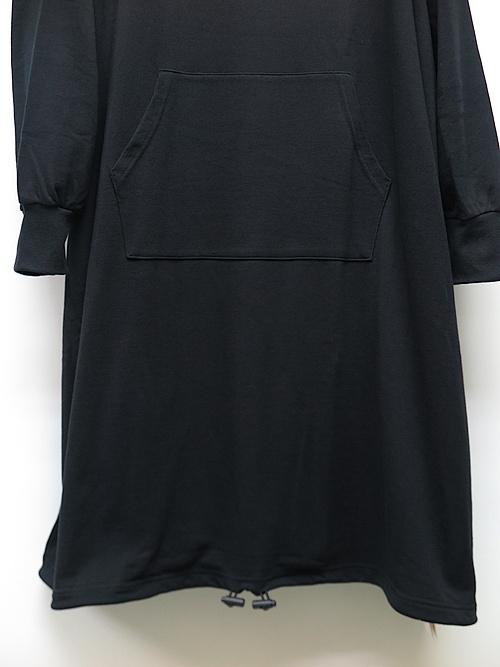 SALE30%OFF/Ground Y・グラウンドワイ/Mini Fleece Pile Big long hoodie/BLACK.