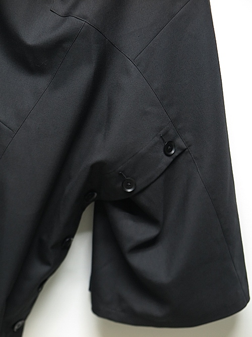 Ground Y・グラウンドワイ/T/W gabardine Shoulder pants ski/BLK