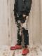 """(予約品)2〜3月入荷/nude:masahiko maruyama ・ヌード:マサヒコマルヤマ/DISTORTION3 """"RYOYA NISHIMOTO"""" DISCHARGE PRINT SLIM EASY PANTS/Black"""