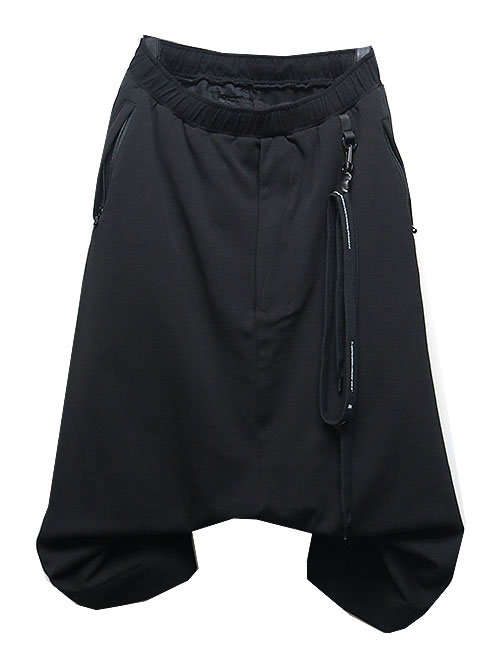 NIL/S・ニルズ/CO/PL MESH TROUSERS BLACK.