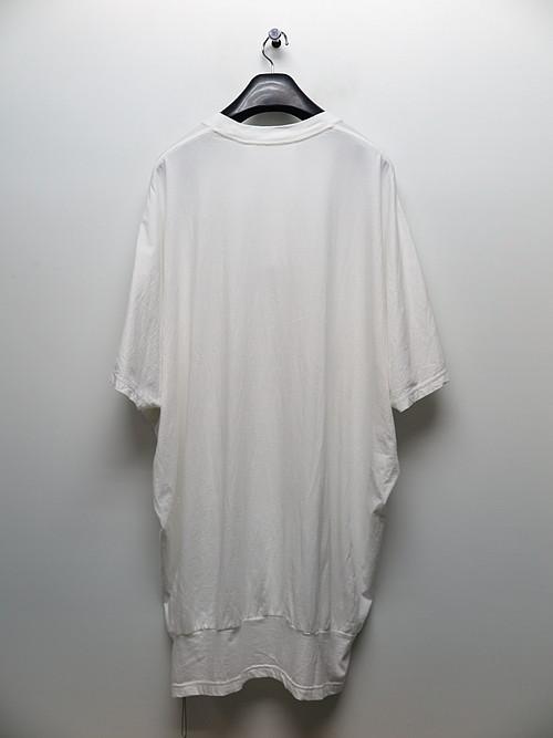 (予約品)1〜2月入荷予定/nude:masahiko maruyama ・ヌード:マサヒコマルヤマ/Cotton Jersey Big Sleeveless Pullover/WHT