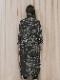 """(予約品)2〜3月入荷/nude:masahiko maruyama ・ヌード:マサヒコマルヤマ/DISTORTION3 """"HARUKA KITAMURA"""" INKJET PRINT OVERSIZED COAT/Black"""