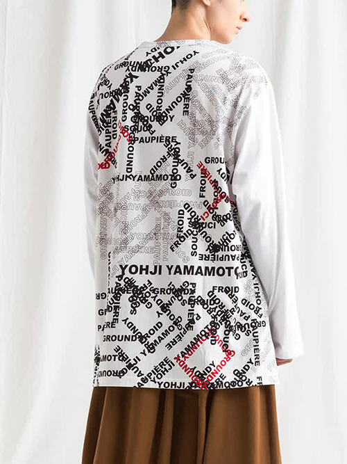 Ground Y・グラウンドワイ/Jersey logo Combination Square T long sleeve/WHITEWHITE