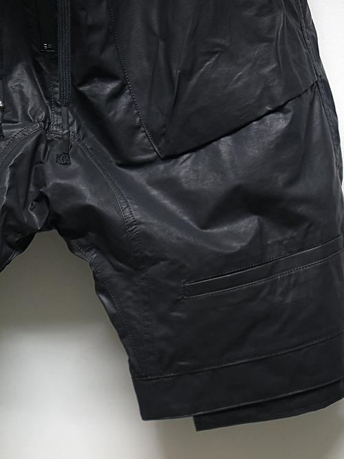 D.HYGEN・ディーハイゲン/カーボンコーティングナイロンドロップクロッチショートパンツ/BLACK