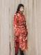 """(予約品)2〜3月入荷/nude:masahiko maruyama ・ヌード:マサヒコマルヤマ/DISTORTION3 """"HARUKA KITAMURA"""" INKJET PRINT OVERSIZED COAT/Red"""