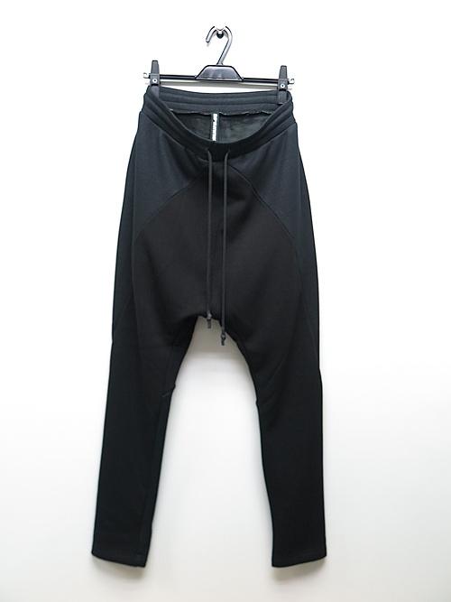 RIPVANWINKLE・リップヴァンウィンクル/ボンバーヒート SOLID JERSEY PANTS/BLACK × CB.BLACK