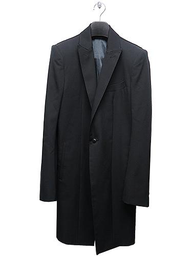 KiryuyriK・キリュウキリュウ/Gabadine Stretch Long Peacked Jacket/BLACK