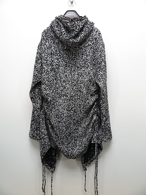 SALE35%OFF/KMRii・ケムリ/Cotton Discharged Hooded CD/ LS/WHITE