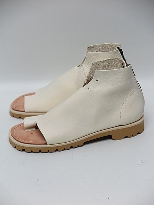 Portaille・ポルタユ/oiled vachetta Boots sandals/WHT