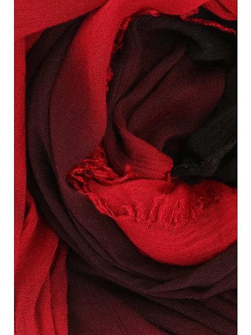 (予約品)7月入荷予定/D.HYGEN・ディーハイゲン/シルクレーヨングラデーションダイストール/RED
