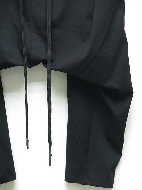 nude:masahiko maruyama ・ヌード:マサヒコマルヤマ/Cotton Heavy Jersey Cropped Sarouel Sweat Pants/BLK