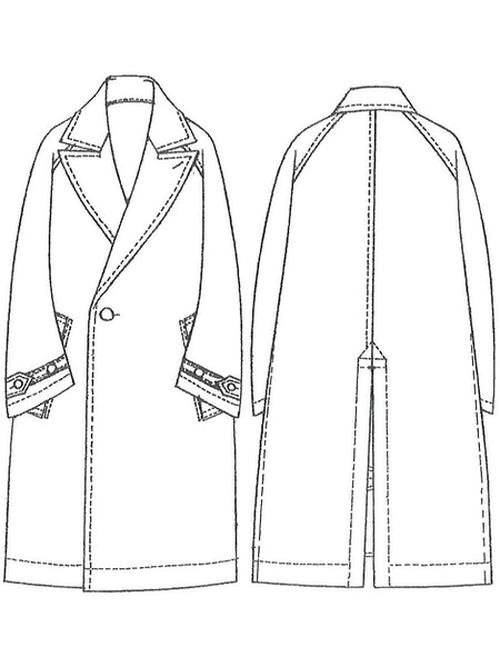 Ground Y・グラウンドワイ/Vintage flannel Raglan Big Coat/BLK
