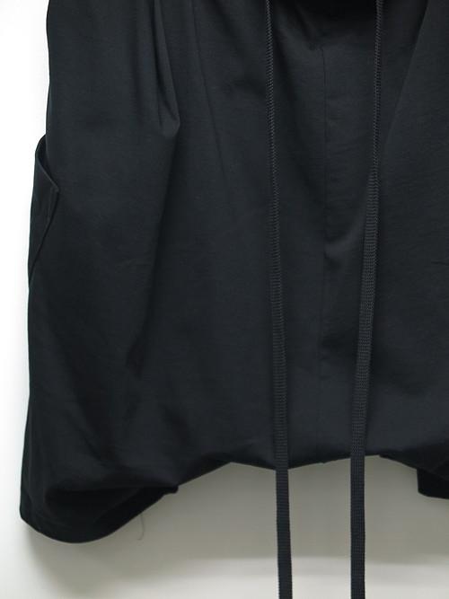 nude:masahiko maruyama ・ヌード:マサヒコマルヤマ/Cotton Heavy Jersey Sarouel Short Sweat Pants/BLK