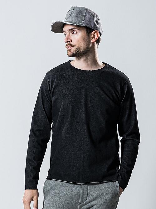 wjk・ダブルジェイケイ/denim cut&sewn/BLK