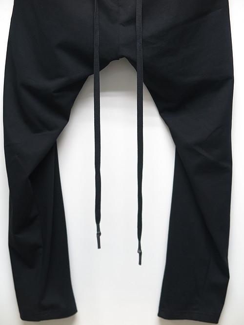 nude:masahiko maruyama ・ヌード:マサヒコマルヤマ/Cotton Heavy Jersey Cropped Slim Sweat Pants/BLK