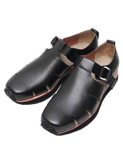 SALE40%OFF/EARLE・アール KipレザーBelted gurkha shoes・ブラック.