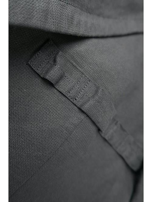 nude:masahiko maruyama ・ヌード:マサヒコマルヤマ/Japanese Paper Dobby Cloth 2 Buttons Jacket/BLK.