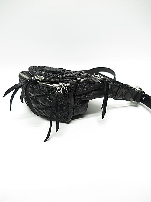 (予約品)2〜3月入荷/KMRii・ケムリ/Snake skin, Goat leather BD- Domino 02 / S/BLK