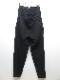 nude:masahiko maruyama ・ヌード:マサヒコマルヤマ/Japanese Paper Dobby Cloth Multi Buttons Pants/BLK