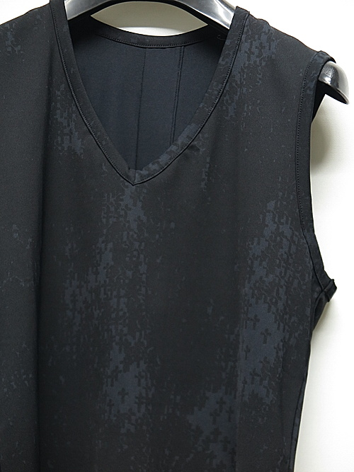 kiryuyrik・キリュウキリュウ/Cross Dot Rash Guard Long Tank Top/Black