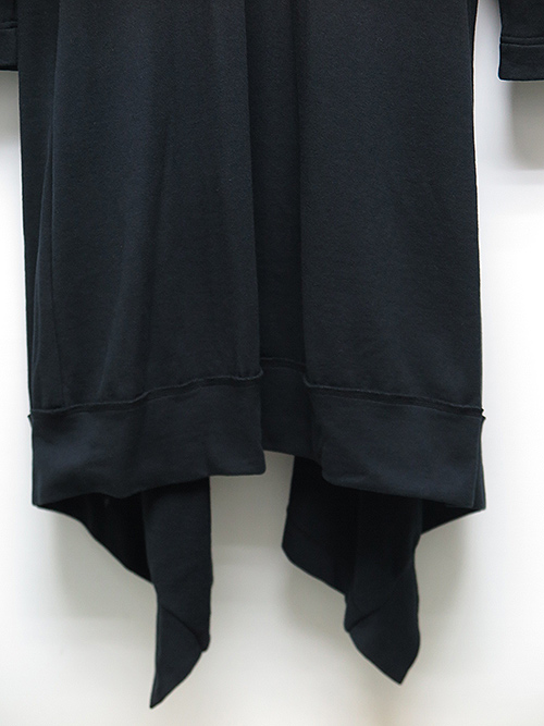 Ground Y・グラウンドワイ・Mini Fleece Drape Hood Cardigan/ブラック