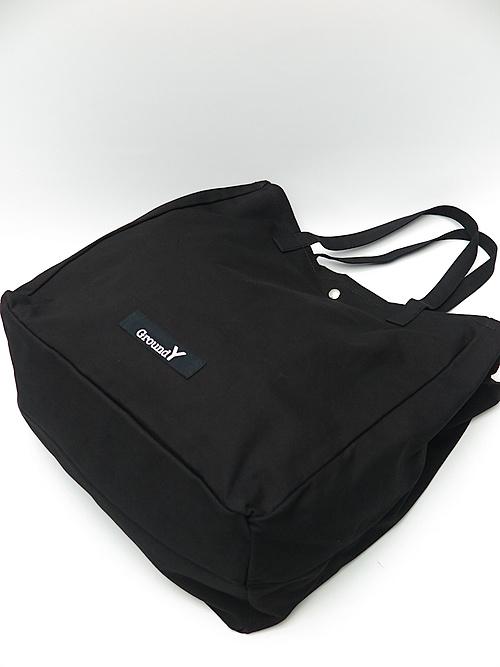 Ground Y・グラウンドワイ/Cotton bag satin Square bag/BLACK