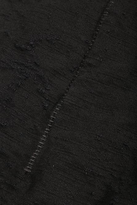 D.HYGEN・ディーハイゲン/スラブジャガードデニム 3D カーブスリムパンツ/BLK