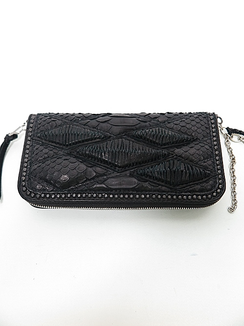 (予約品)2〜3月入荷/KMRii・ケムリ/Snake skin, Goat leather WR- Domino 02 /BLK