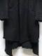 kiryuyrik・キリュウキリュウ/Shrink Wool Jersey NoCollar Flare Jacket/Black