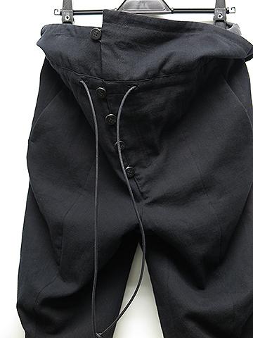 SALE50%OFF/SADDAM TEISSY(サダムテイシー)ウエストフラップカーブワイドパンツ・ブラック.