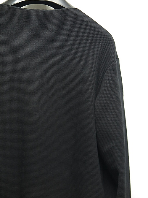 RESOUND CLOTHING・リサウンドクロージング/ST COTTON waffle Thermal/BLACK
