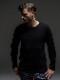(予約品)9月入荷/RESOUND CLOTHING・リサウンドクロージング/ST COTTON waffle Thermal/BLACK