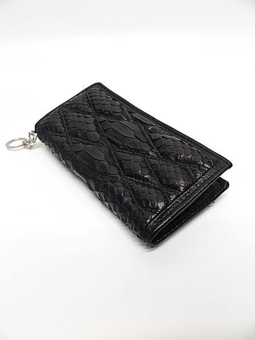 (予約品)2〜3月入荷/KMRii・ケムリ/Snake skin, Goat leather WL- Domino 02 /BLK