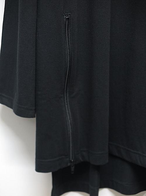 Ground Y・グラウンドワイ/30/cotton Jersey Zipper opened big/BLK