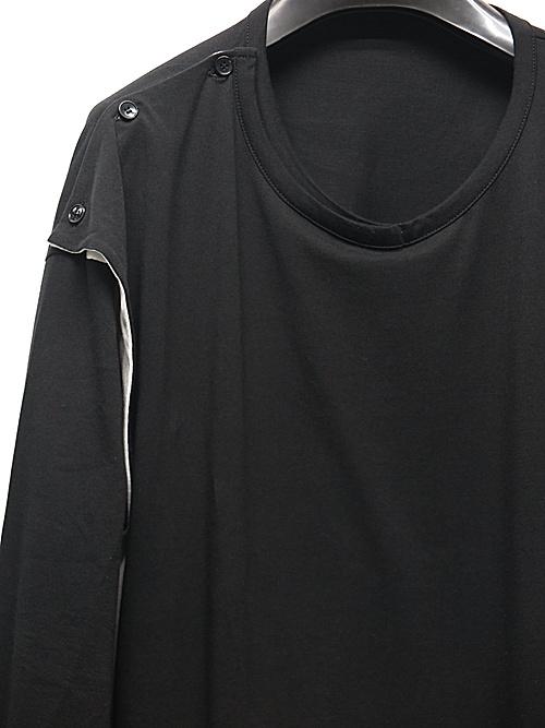 Ground Y・グラウンドワイ/30/cotton Jersey 3way drape cut and/BLK