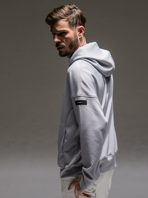 RESOUND CLOTHING・リサウンドクロージング/Antibacterial cts loose hoodie/GREY