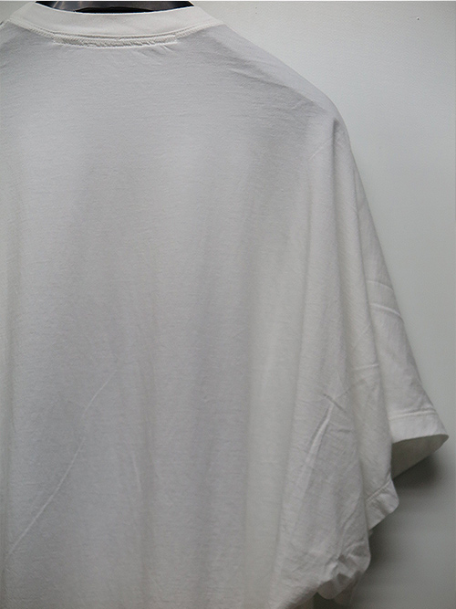 JULIUS・ユリウス/COTTON RAYON JERSEY AVALANCHE PRINT CROPPED T-SHIRT/WHITE