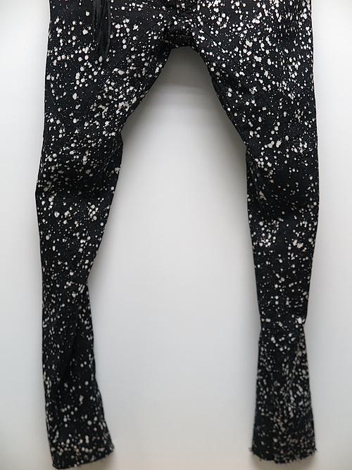 SALE35%OFF/KMRii・ケムリ/Cotton Spandex Discharged Stretch Twill Pants/BLACK
