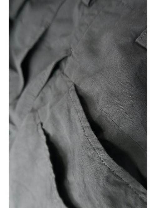 nude:masahiko maruyama ・ヌード:マサヒコマルヤマ/Supima Cotton / Linen Cloth 2 Tucks Wide Pants/BLK