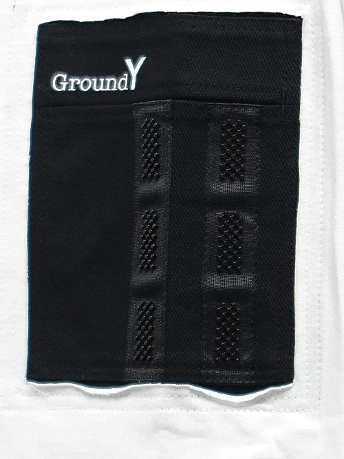 Ground Y・グラウンドワイ・Basic Big Cut/WHITE