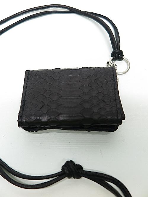 (予約品)2〜3月入荷/KMRii・ケムリ/Snake skin, Goat leather WS- Domino 02 /BLK
