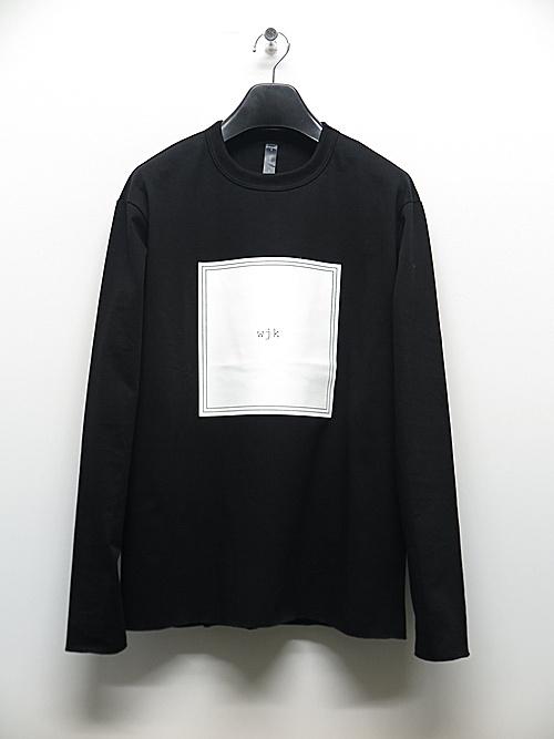 wjk・ダブルジェイケイ/frame print L/S/BLK