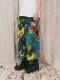 """(予約品)2〜3月入荷/nude:masahiko maruyama ・ヌード:マサヒコマルヤマ/DISTORTION3 """"HIYORI YOSHIDA"""" INKJET PRINT WIDE LEG EASY PANST/Colorful Print"""