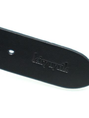 KiryuyriK・キリュウキリュウ/Cow Smooth Leather Belt・ブラック