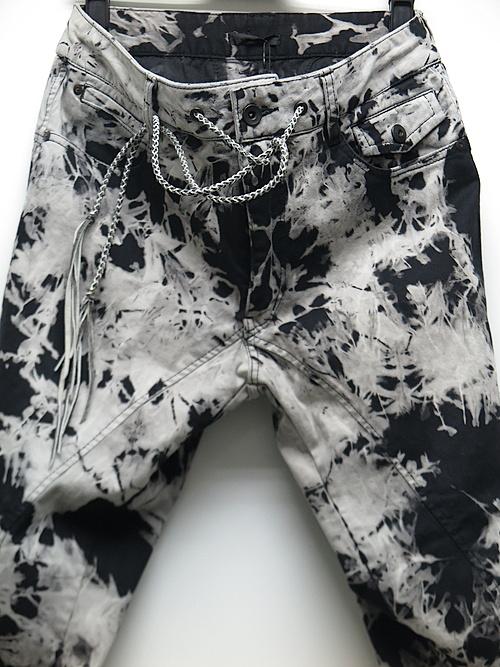 KMRii・ケムリ/Cotton Spandex Tie Dye Stretch Twill Pants/BLACK
