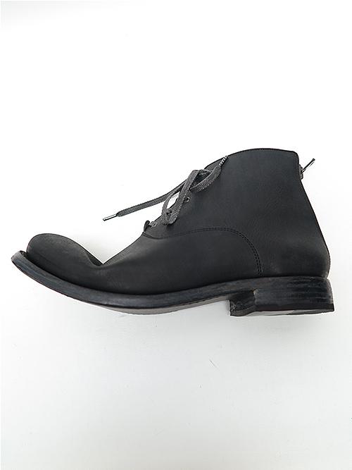 (予約品)9月入荷/Portaille・ポルタユ/Filled steer lacedup middle boots/BLK